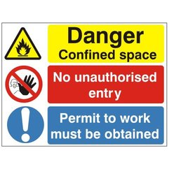 danger confined space no entry